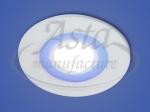 Светодиодный светильник X-002, LY 206 B, 6+2 W, d 110х90, 4000 К, синий