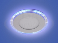 Светильник LED X-001, LY 115 G, 15+3 W, d 160х115, 3000 K, синий