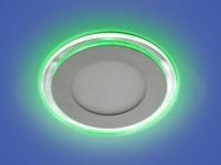 Светильник LED X-001, LY 115 G, 15+3 W, d 160х115, 3000 K, зеленый