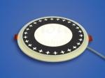 Светодиодный светильник 3-х режимный RMD 6+3 W, d 155х126, 4000 К (орнамент)