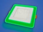 Светильник LED LPL 12+4 W, 195х160, 4000 K, зеленый