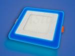 Светильник LED LPL 12+4 W, 195х160, 4000 К, синий