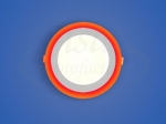 Светодиодный светильник 3-х режимный RMD 6+3 W, d 145х126, 4000 К,красный