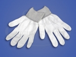 Перчатки нейлоновые антистатичные белые L