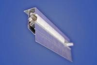 Конструкция для перехода уровня с подсветкой (прямолинейная, криволинейная) ПЛ 75 со вставкой KS