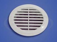 Решетка вентиляционная белая 100 мм