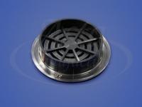 Решетка вентиляционная, 50 мм, черная