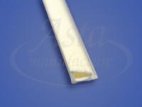 Штапик ПВХ белый 1м