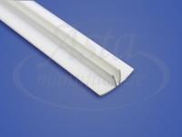 Плинтус ПВХ для клинового разделительного багета белый 2,6 м