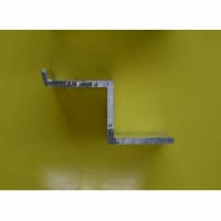 Профиль алюминиевый  Z образный (отбойник) С запилом