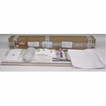 Комплект натяжного потолка № М4 белый матовый размеры полотна 2,0 м х 3,2 м.