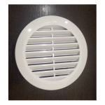 Вентиляционная решетка белая 125 мм с т/к